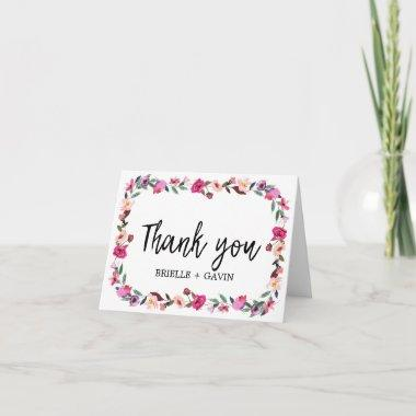 Romantic Fairytale Blossom Wreath Thank You Invitations