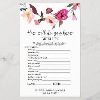 "Romantic Fairytale ""Do You Know The Bride"" Game"