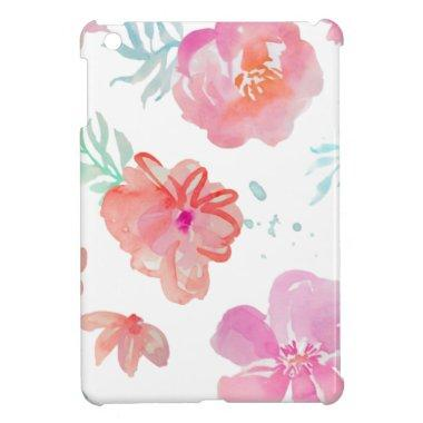 Romantic Floral Pink Watercolor Cool & Elegant for iPad Mini Case