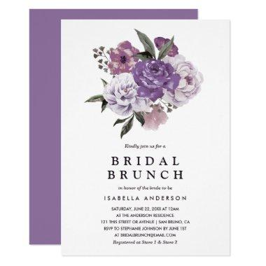 Romantic Floral Watercolor Spring Bridal Brunch