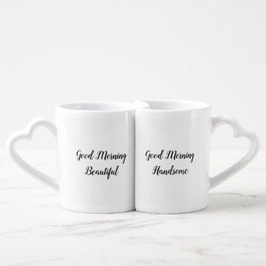 Romantic Love Quote Typography Breakfast Coffee Mug Set