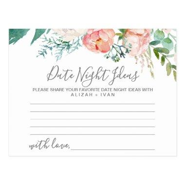 Romantic Peonies Date Night Idea Invitations