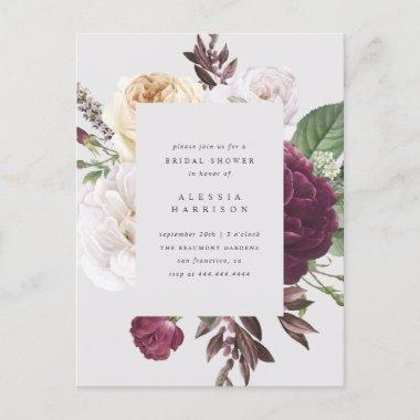 Romantic Peonies & Roses Bouquet Bridal Shower Invitation PostInvitations