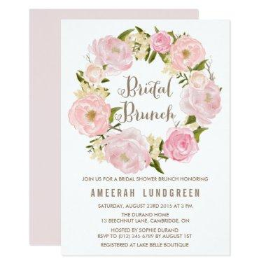 Romantic Peonies Wreath Bridal Brunch