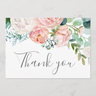 Romantic Peony Flowers Thank You
