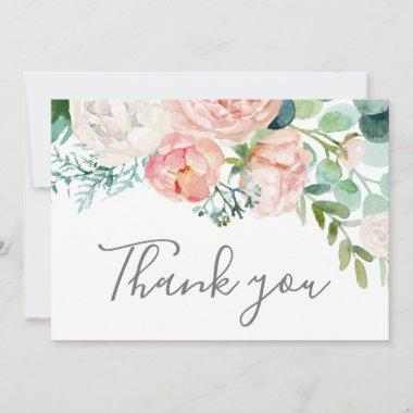Romantic Peony Flowers Thank You Invitations