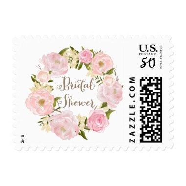 Romantic Pink Peonies Wreath  Postage