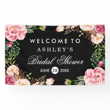 Romantic Rose Floral Wrap Wedding  Banner