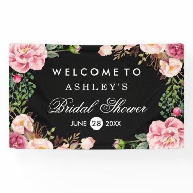 Romantic Rose Floral Wrap Wedding  Banner