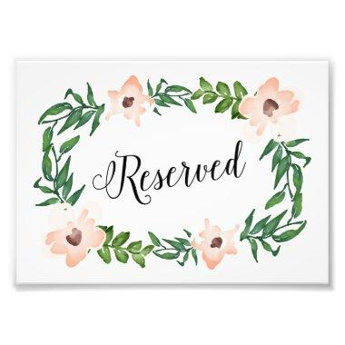 Romantic Vines Reserved Print