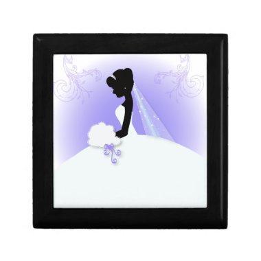 romantic vintage bride silhouette  jewelry box