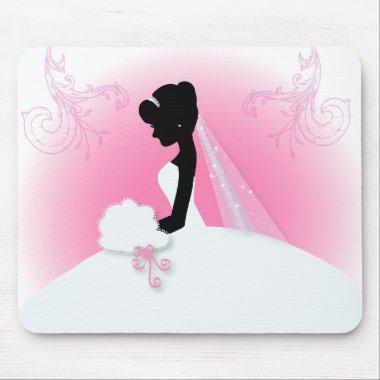 romantic vintage bride silhouette  mouse pad