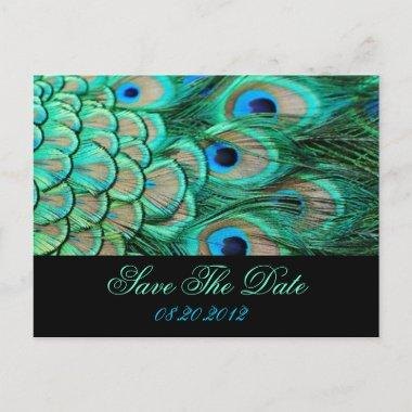 romantic vintage peacock wedding save the date announcement postInvitations