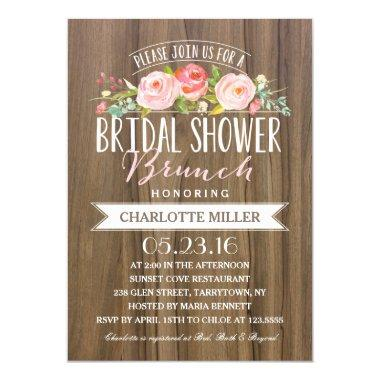 Rose Banner Brunch | Bridal Shower Invitations