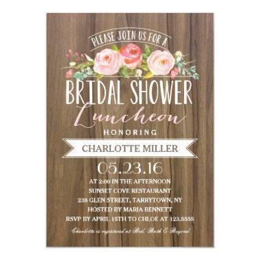 Rose Banner Luncheon | Bridal Shower Invitations