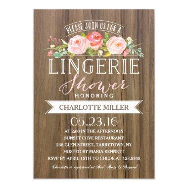 Rose Banner Rustic | Lingerie Shower