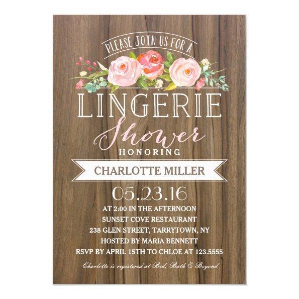 Rose Banner Rustic | Lingerie Shower