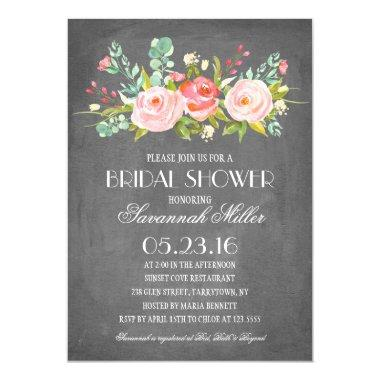 Rose Garden Chalkboard | Bridal Shower Invitations