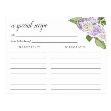 Rose Garden Recipe Invitations