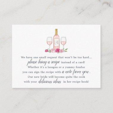 Rosé Garden Recipe Request Invitations