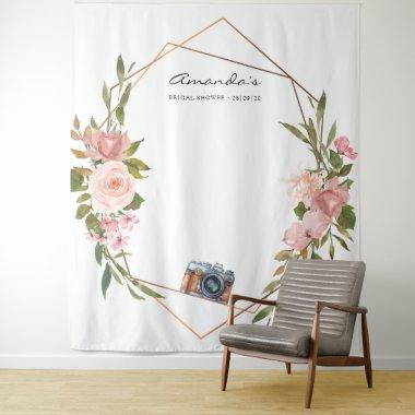 Rose Gold and Blush Pink  Photo Booth Tapestry