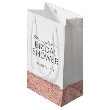 Rose Gold Brushstroke Bridal Shower Gift Bag