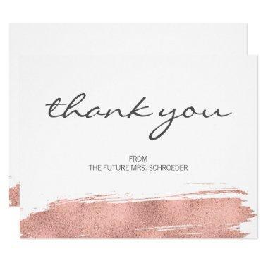 Rose Gold Brushstroke  Thank You
