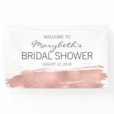 Rose Gold Brushstroke  Welcome Banner