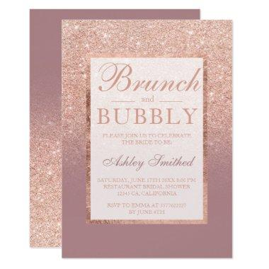 Rose gold dusty rose brunch bubbly
