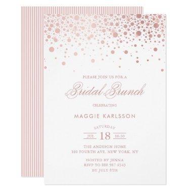Rose Gold Foil Confetti Bridal Brunch