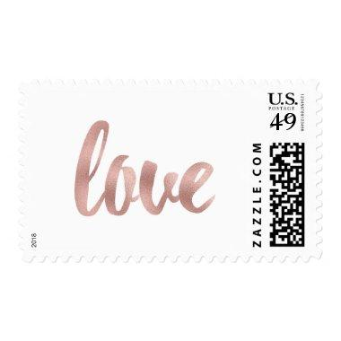 Rose gold love stamps- medium postage