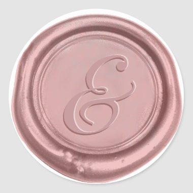 Rose Gold Wedding Ampersand Wax Seal
