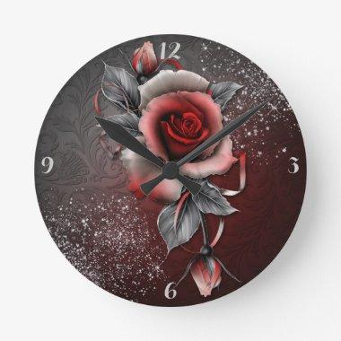 *Rose -Round (Medium) Clock