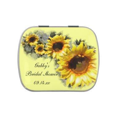 Row of Sunflowers Bridal Shower Favor Candy Tins
