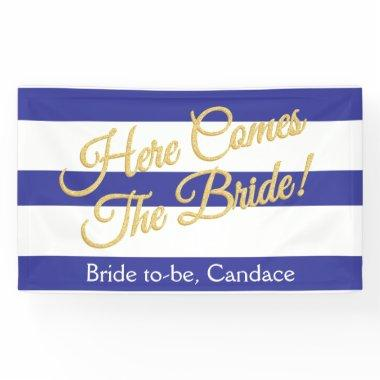 Royal Blue, Stripes & Glitter  Banner