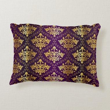 Royal Purple & Gold Pillow