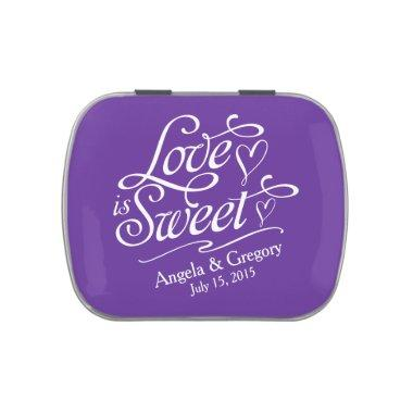 Royal Purple Love is Sweet Wedding Candy Tin