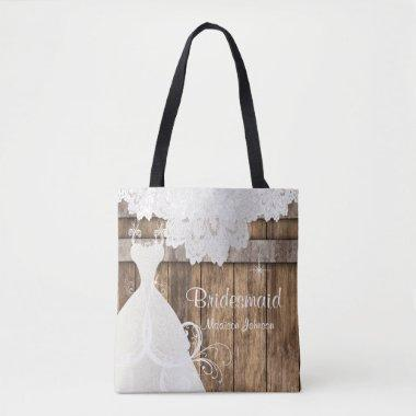 Rustic Barn Wood  Design Tote Bag
