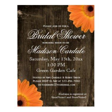 Rustic Barn Wood  Invite POST