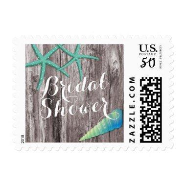Rustic Beach Theme Seashells  Stamps