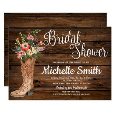 Rustic Boot Country Bridal Western
