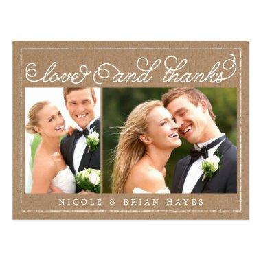 Rustic Border Wedding Thank You  - Craft