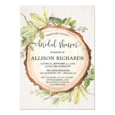 Rustic bridal shower forest woods theme Invitations