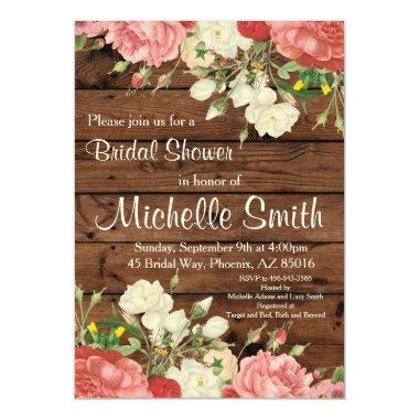 Rustic  Invite, Flower, Floral, Boho