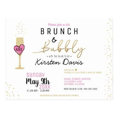 Rustic Brunch and Bubbly Bridal Shower Invitation PostInvitations