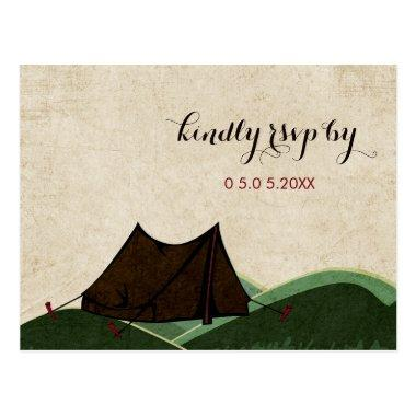 Rustic Camping Wedding RSVP Post