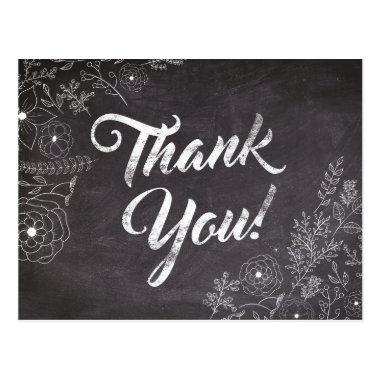 Rustic Chalkboard Floral Thank You