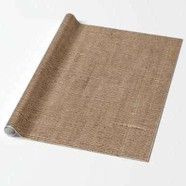 Rustic Country Burlap Linen Texture Shabby Look Wrapping Paper