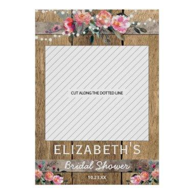 Rustic Country Floral  Photo Prop Poster