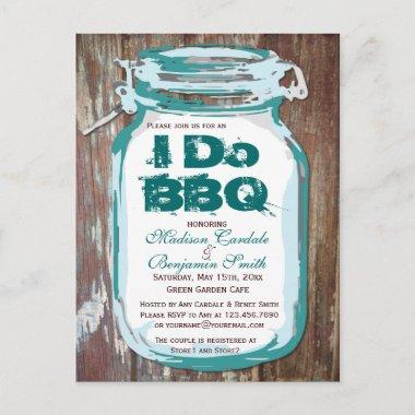 Rustic Country Mason Jar I Do BBQ Post